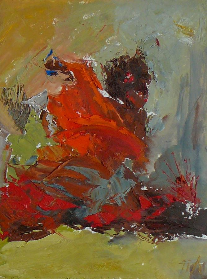 Abstract Painting - Habanera by Irena  Jablonski