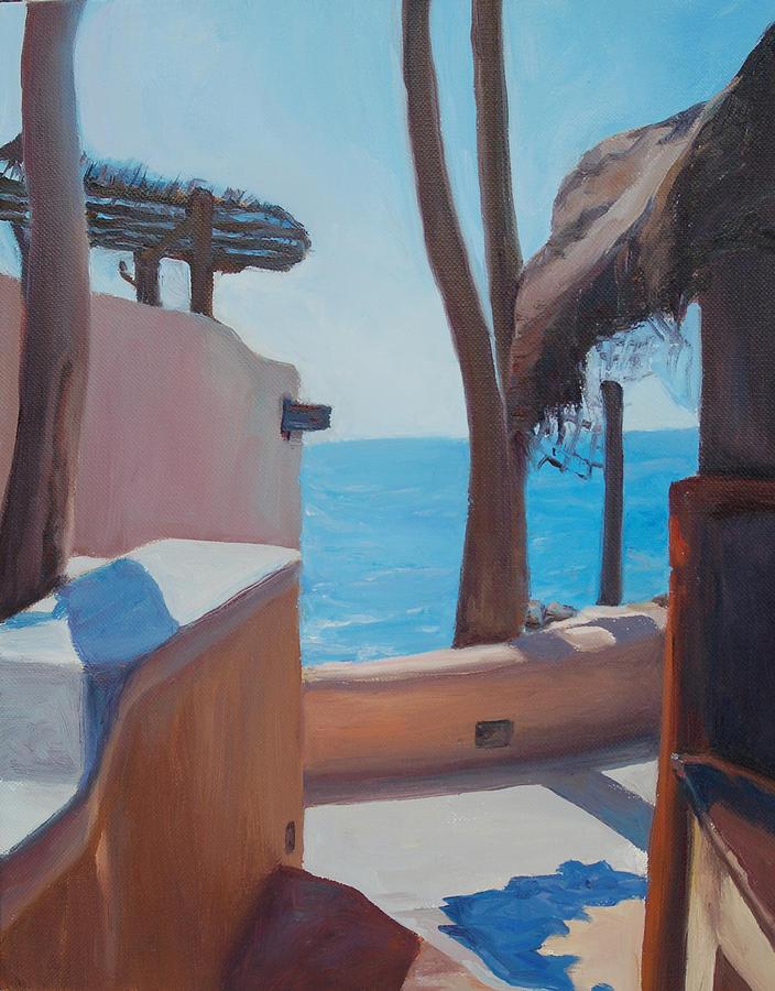 Mexico Painting - Hacienda del mar by Christine Lytwynczuk