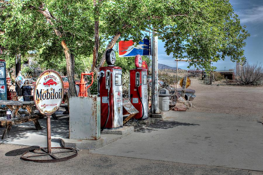 Mobiloil Photograph - Hackberry General Store On Route 66 by Lynn Jordan