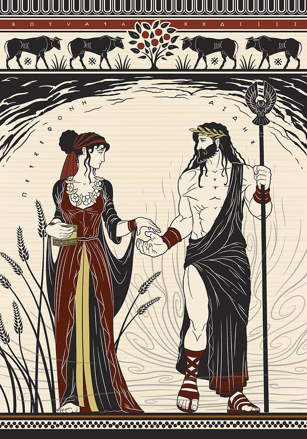 Hades Digital Art - Hades and Persephone by Matthew Kocvara