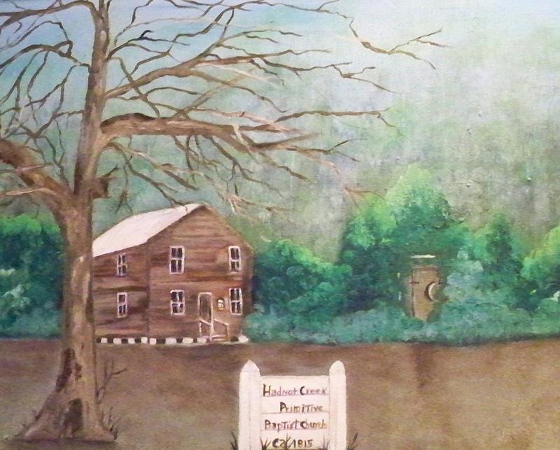 Church Painting - Hadnot Creek Church by Linda Bright Toth