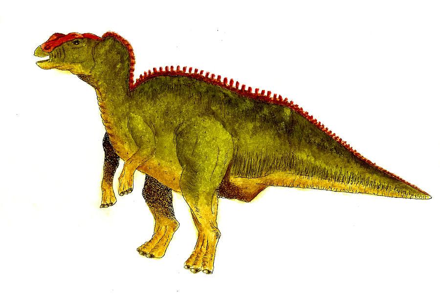 Animals Painting - Hadrosaurus by Michael Vigliotti