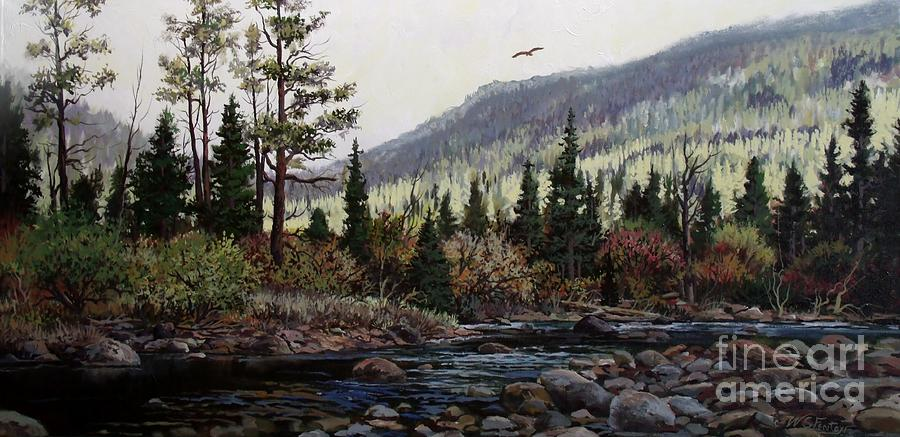 Stream Painting - Hagerman Peak by W  Scott Fenton