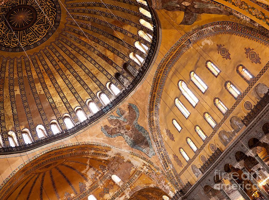 Istanbul Photograph - Hagia Sophia Dome 01 by Rick Piper Photography