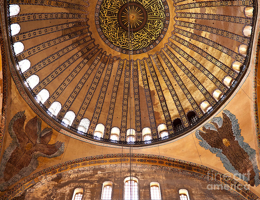 Istanbul Photograph - Hagia Sophia Dome 02 by Rick Piper Photography