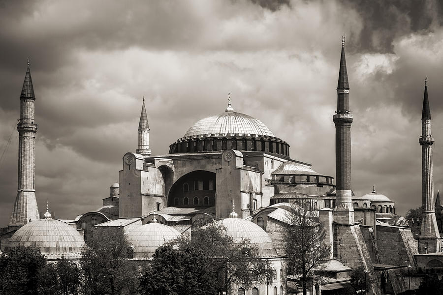 Hagia Sophia Istanbul Black And White Photograph By For