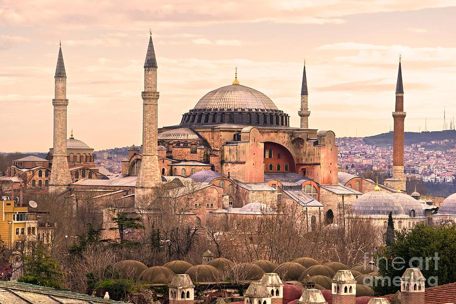 Architecture Photograph - Hagia Sophia Mosque - Istanbul by Luciano Mortula