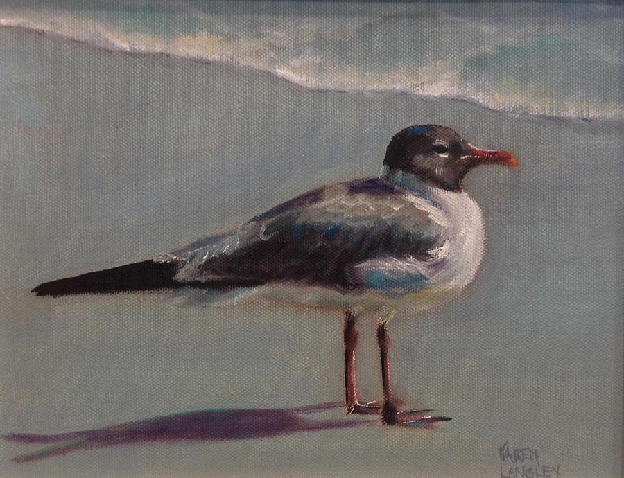 Seagull Painting - Haha Gull by Karen Langley