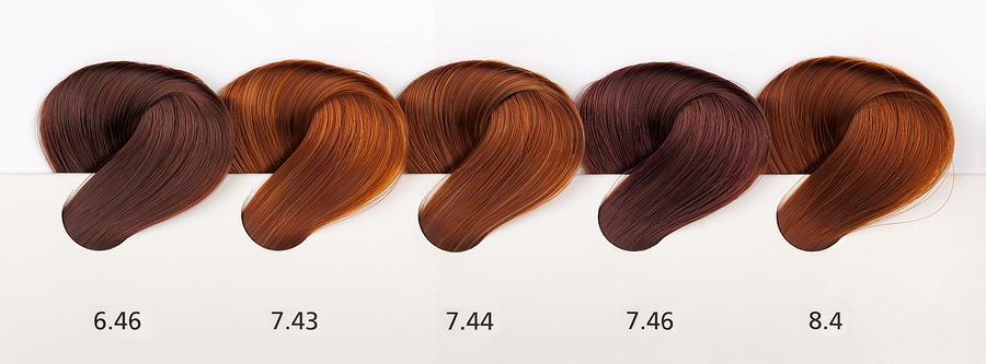 Hair Dye Color Swatches - Copper Tones by Kaanates