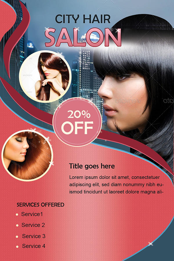 Hair Salon-flyer Digital Art by Seema Singh