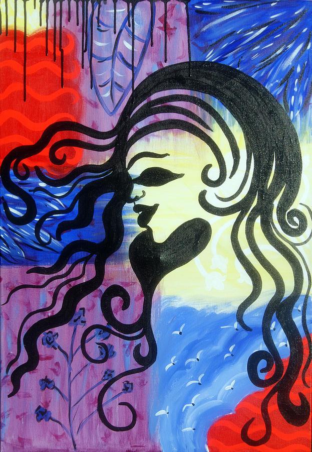 Hair Painting - Hair Silhouette by Lorinda Fore