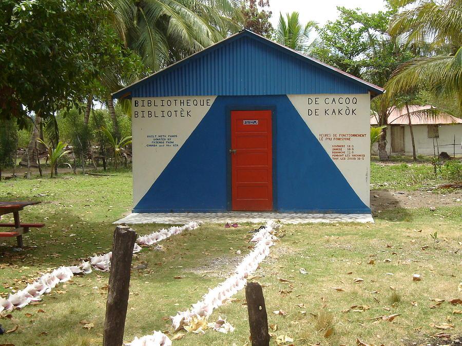 Haitian Library Photograph