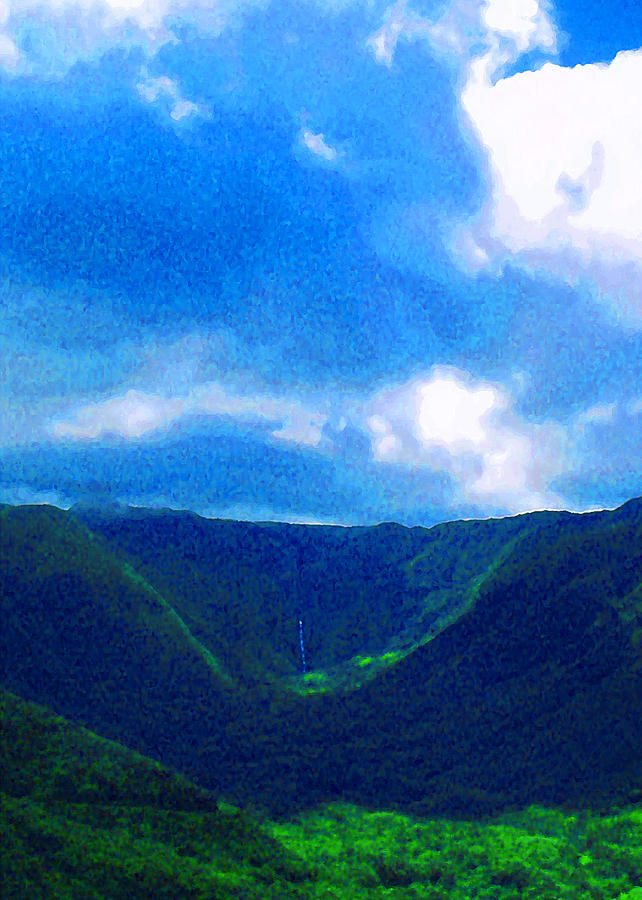 James Temple Photograph - Halawa Valley by James Temple