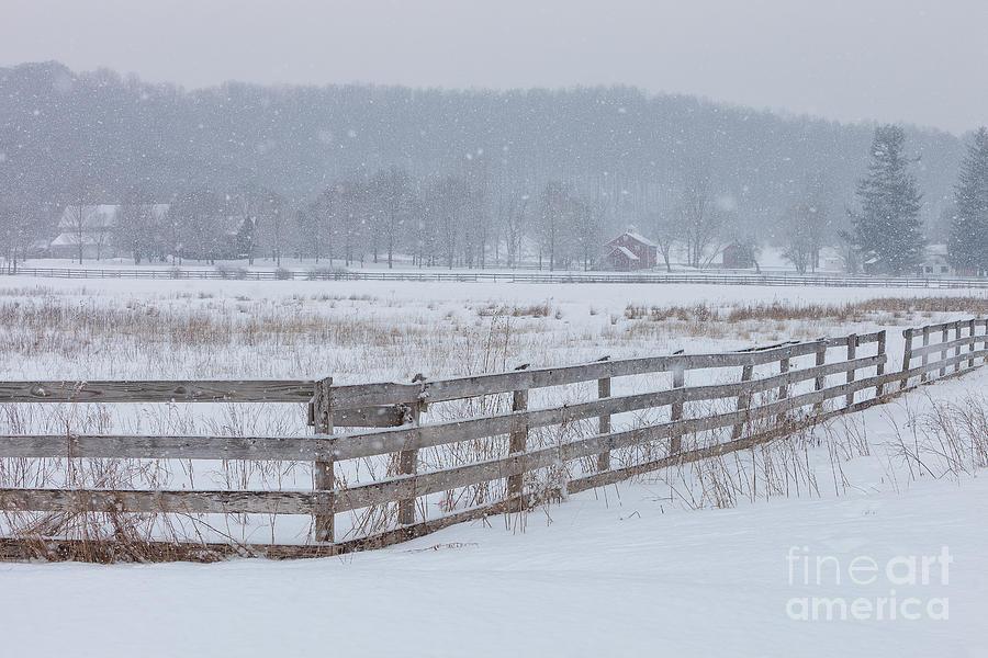 Cvnp Photograph - Hale Farm At Winter by Joshua Clark