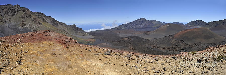Beauty In Nature Photograph - Haleakala Crater by Sami Sarkis