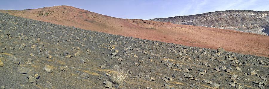 Rocks Photograph - Haleakala Pano Two by Peter J Sucy