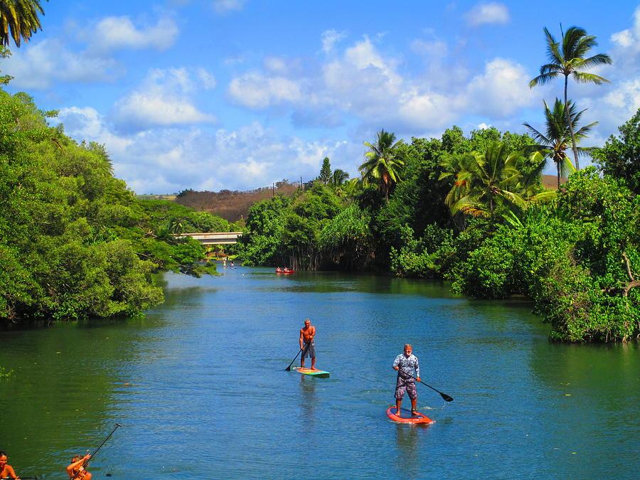 Haleiwa Paddle Boarding Photograph