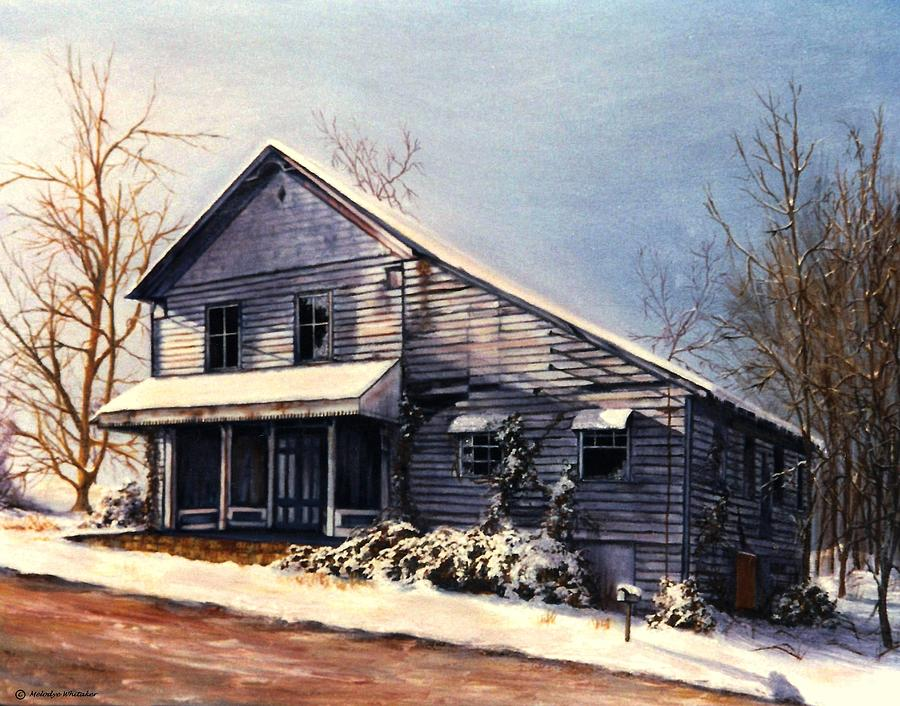 Oil Painting Painting - Hales Store by Melodye Whitaker