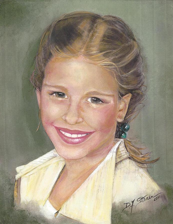 Paintings On Canvas Painting - Haley  by Diane Strain