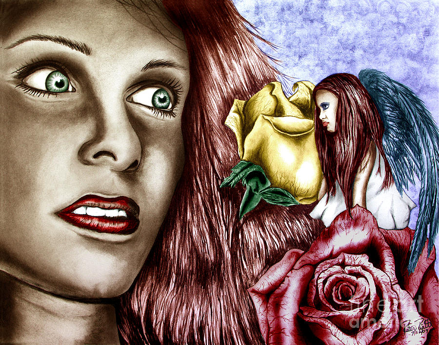 Apparition Drawing - Haleys Apparition Colored by Peter Piatt