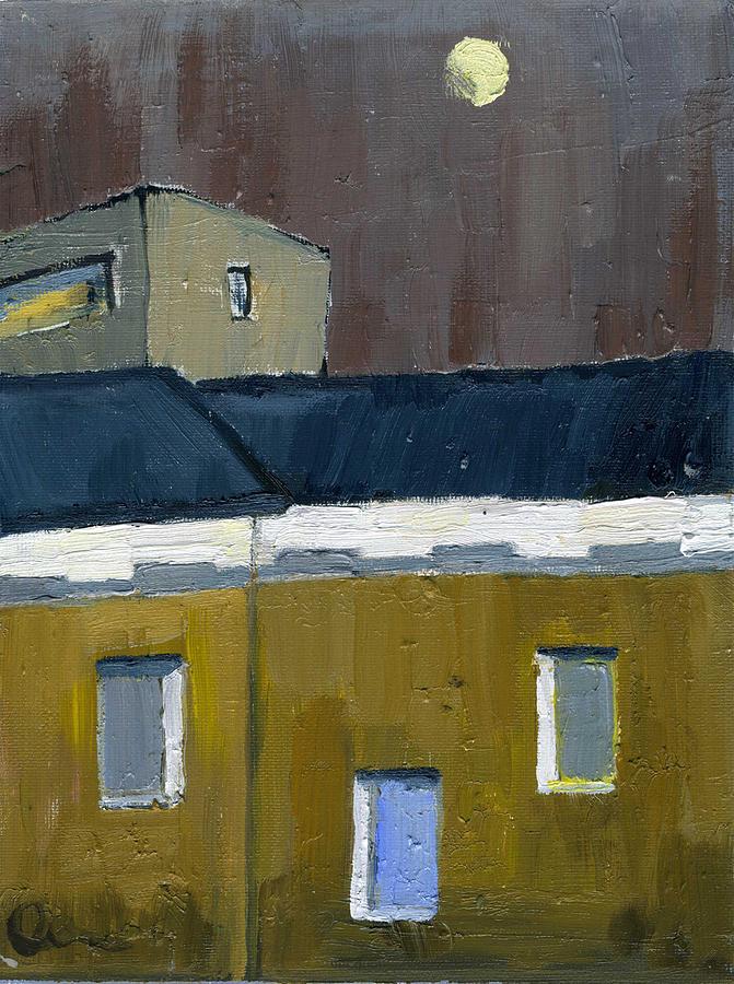 Cityscape Painting - Half A Week Before Full Moon by Lelia Sorokina