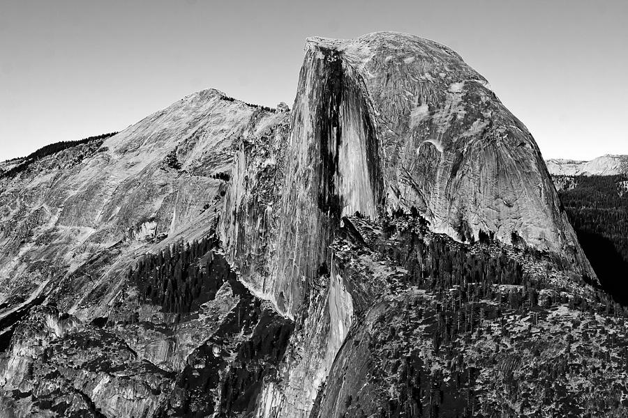 Black white photograph half dome black and white by peter tellone