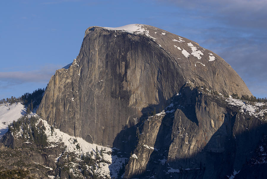 Half Dome Photograph - Half dome close up in winter by Richard Berry