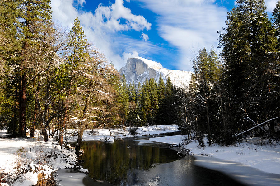 Half Dome Photograph - Half Dome In Winter by Don and Bonnie Fink