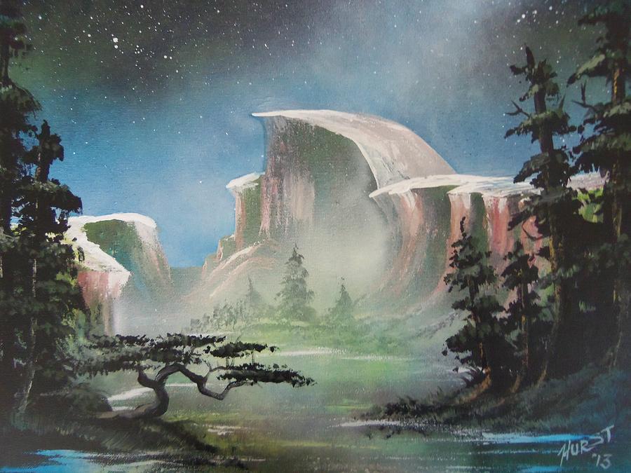 Spray Painting - Half Dome by Jim Hurst