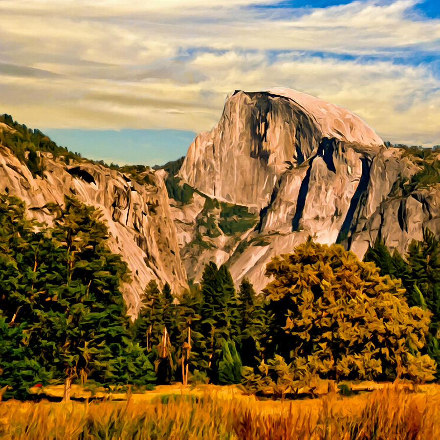 Bob Johnston Painting - Half Dome Painting by Bob and Nadine Johnston