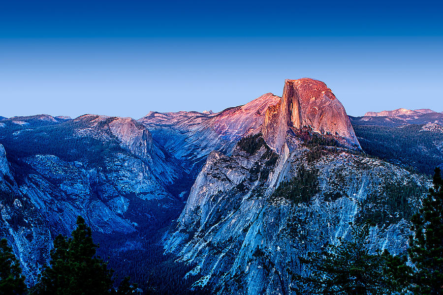 California Photograph - Half Dome Twilight by Peter Tellone