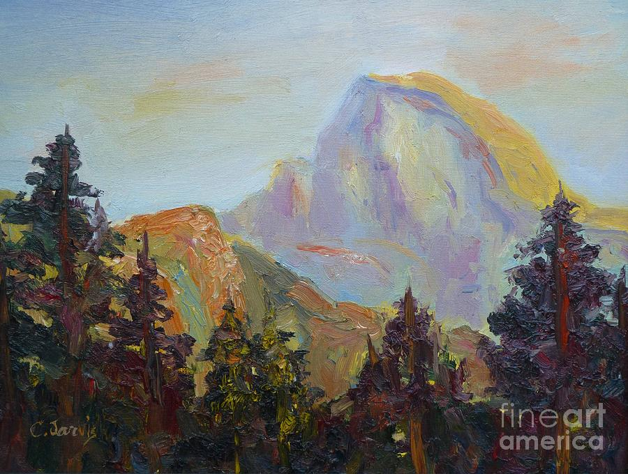 Half Dome View Painting - Half Dome View by Carolyn Jarvis