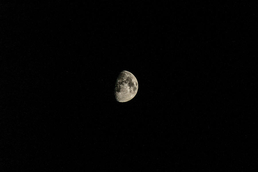 Moon Photograph - Half Moon by Julien Boutin