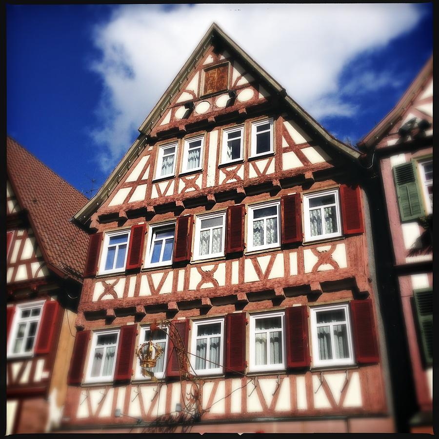 Half-timbered Photograph - Half-timbered house 10 by Matthias Hauser