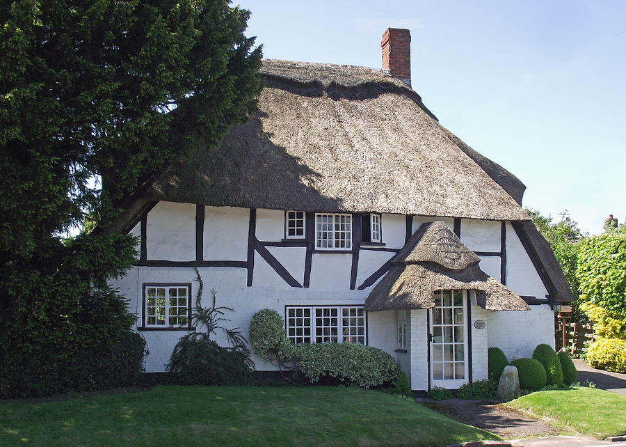Half Timbered Thatched Cottage Photograph By Jayne Wilson
