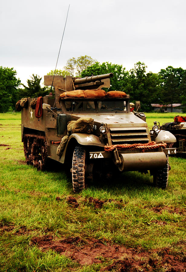 World War Ii  - Half- Track by Jame Hayes