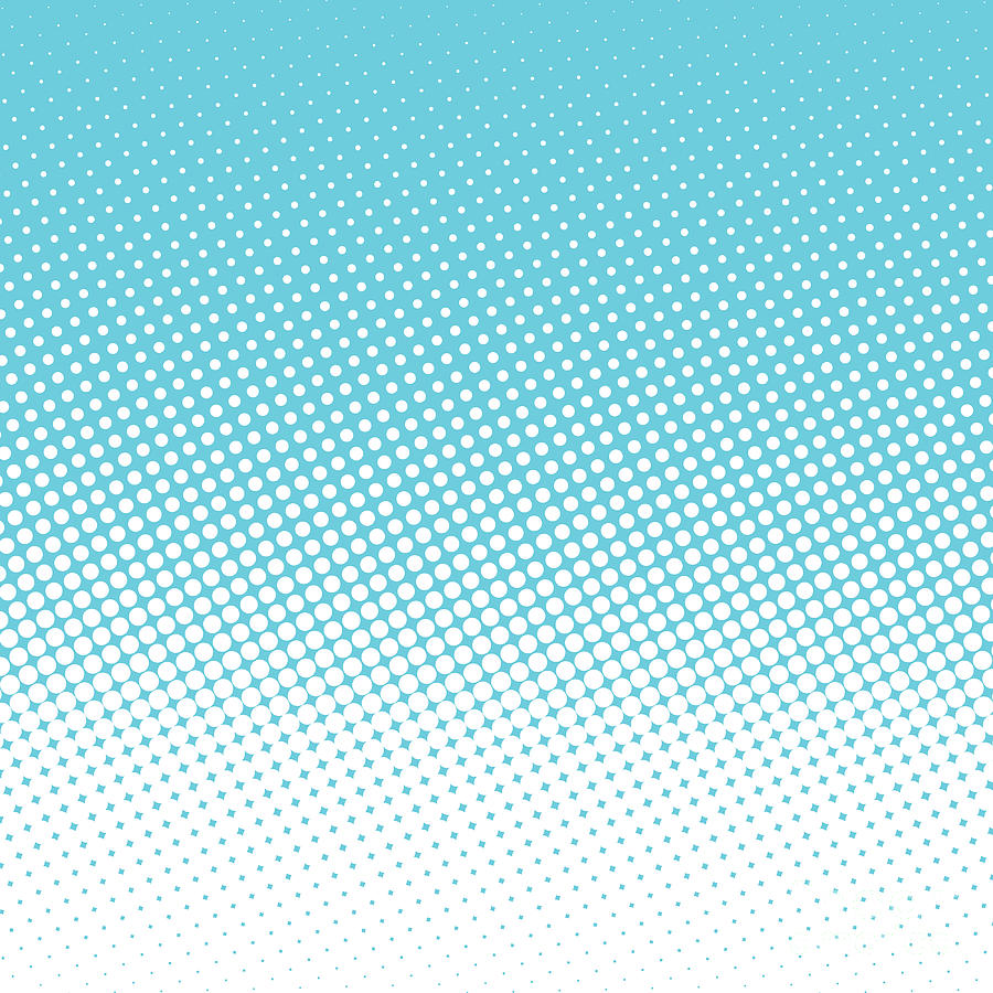 Small Digital Art - Halftone Background, Pop Art Design by Bobnevv