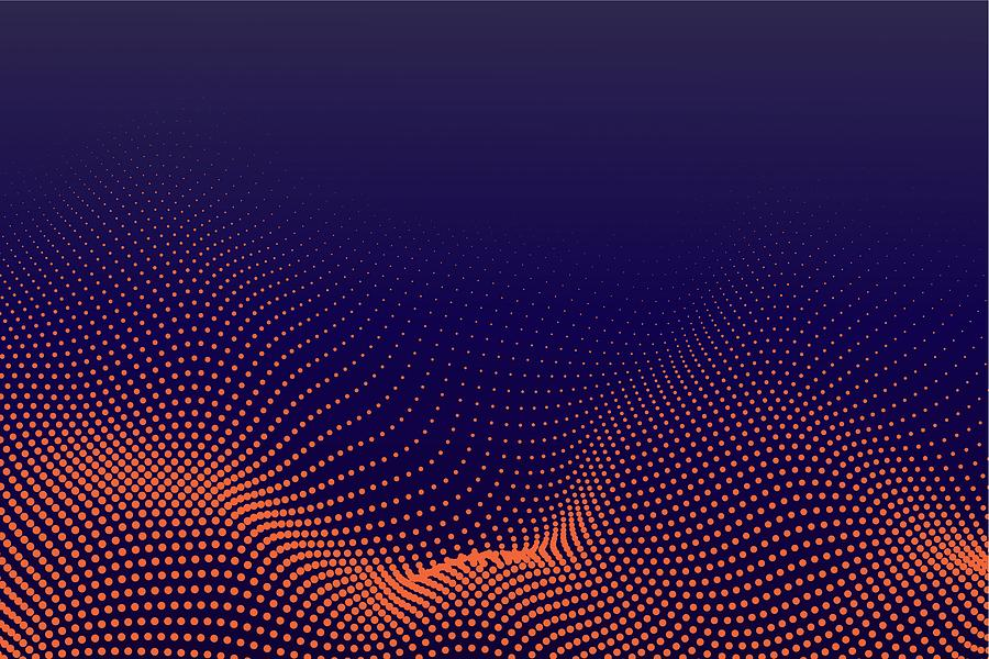 Halftone Pattern Abstract background for Template Brochure, Flyer, Comic, Business Card, Web Page Drawing by Ajwad Creative