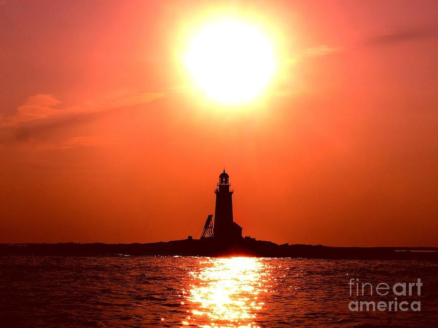 Halfway Rock Lighthouse Photograph