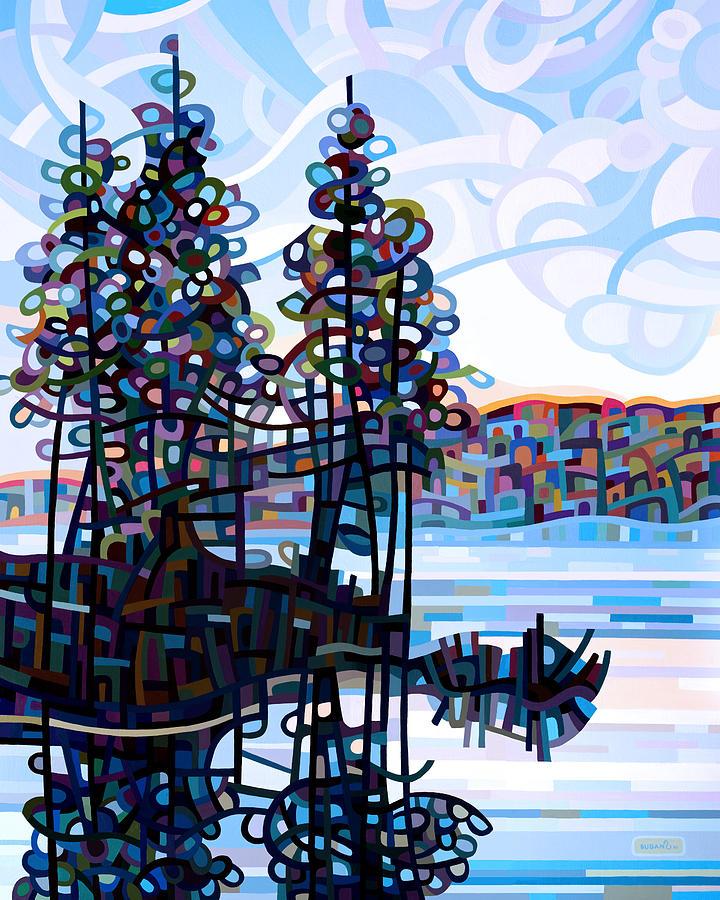 Landscape Painting - Haliburton Morning by Mandy Budan