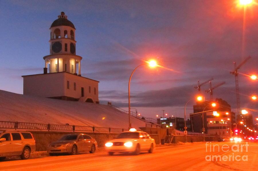 Halifax Nova Scotia Photograph - Halifax Town Clock In Halifax Nova Scotia by Halifax photographer John Malone