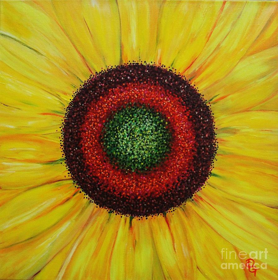 Sunflower Painting - Hallelujah by Deborah Glasgow