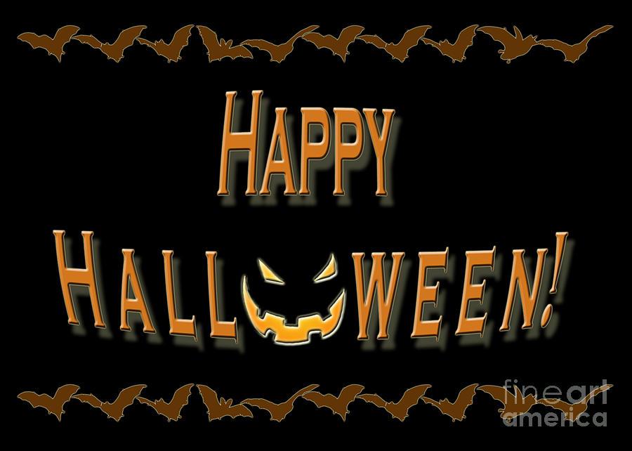 Halloween Digital Art - Halloween Bat Border by Melissa A Benson