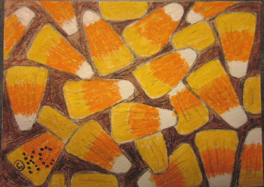 Halloween Painting - Halloween Candy Corn by Kathy Marrs Chandler