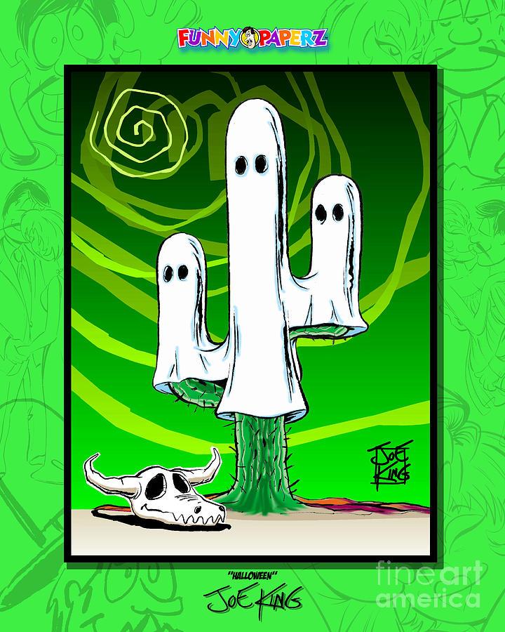 Ghost Mixed Media - Halloween by Joe King