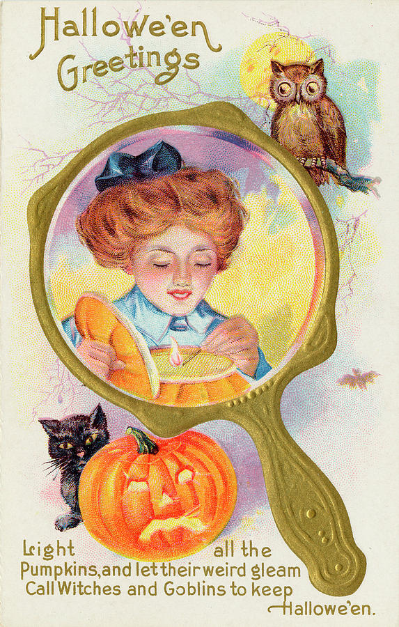 Customs Drawing - Halloween Magic - Lighting by Mary Evans Picture Library