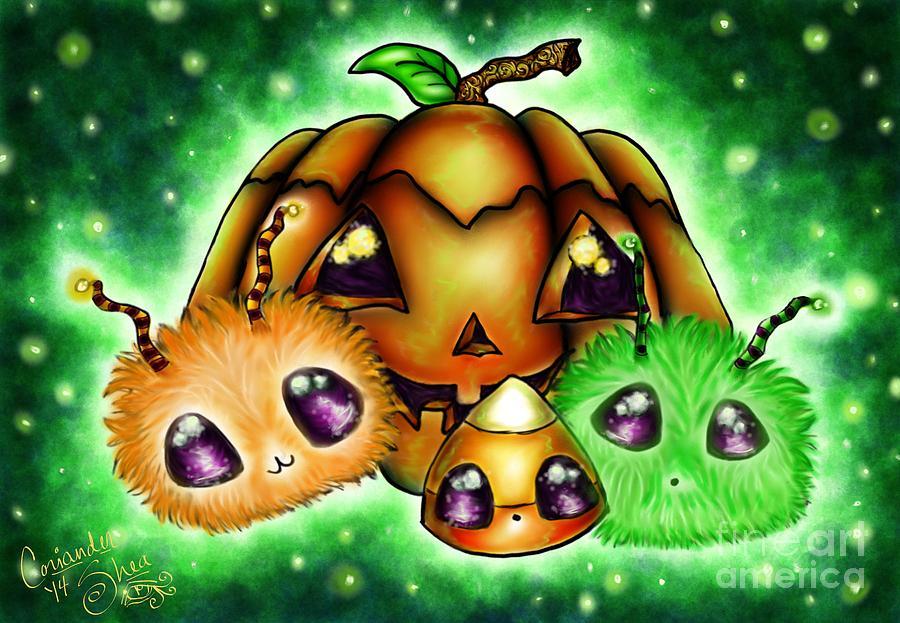 Halloween Digital Art - Halloween Menagerie by Coriander  Shea