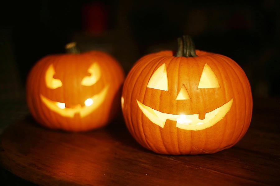 Halloween pumpkins Photograph by Catherine Delahaye