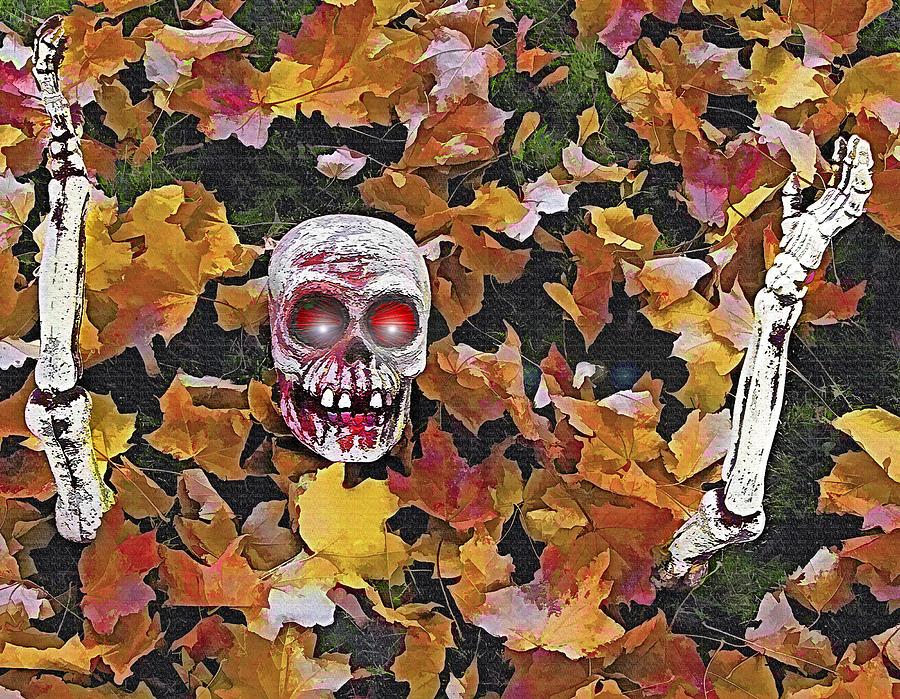 Halloween Photograph - Halloween Skeleton by Steve Ohlsen