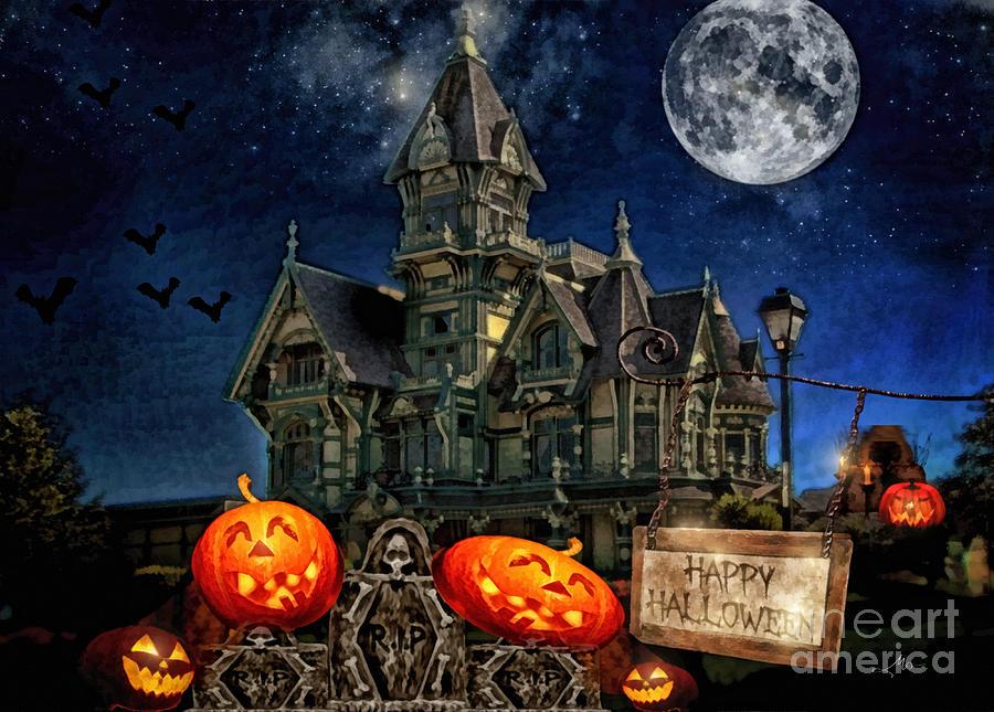 Halloween Digital Art - Halloween Spot by Mo T